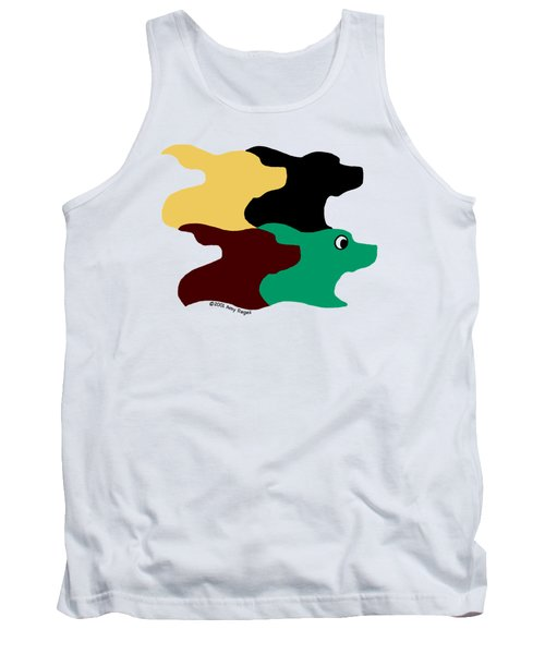 Wild And Crazy Tessellating Dogs Tank Top