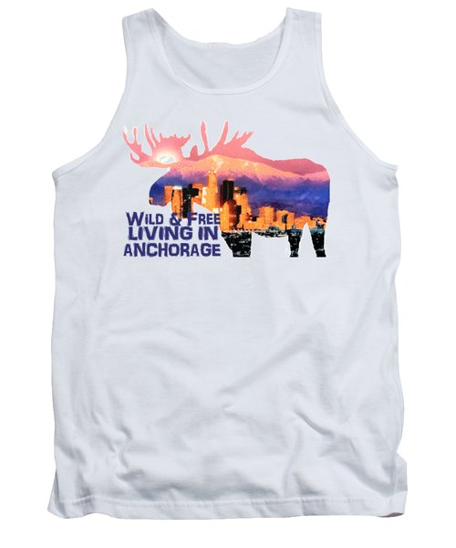 Wild And Free Tank Top by Elaine Ossipov