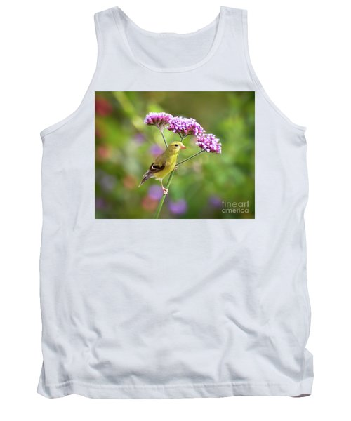 Tank Top featuring the photograph Wild Birds - Female Goldfinch by Kerri Farley