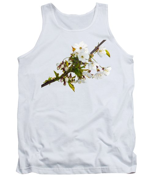 Tank Top featuring the photograph Wild Cherry Blossom Cluster by Jane McIlroy