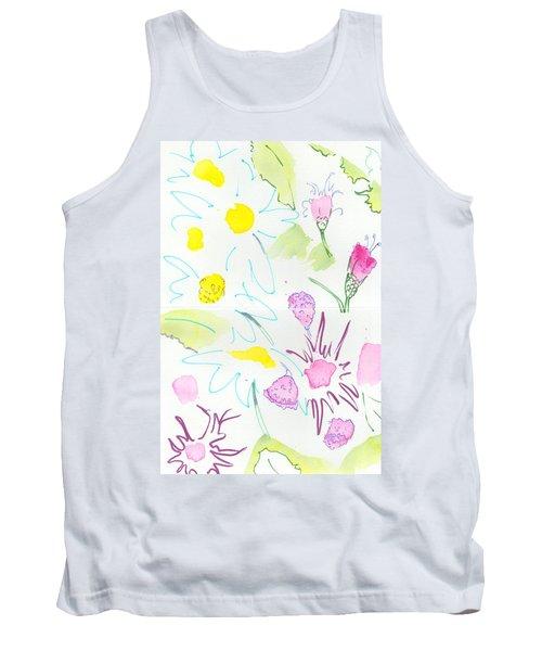 Wild Daisies Pattern Tank Top