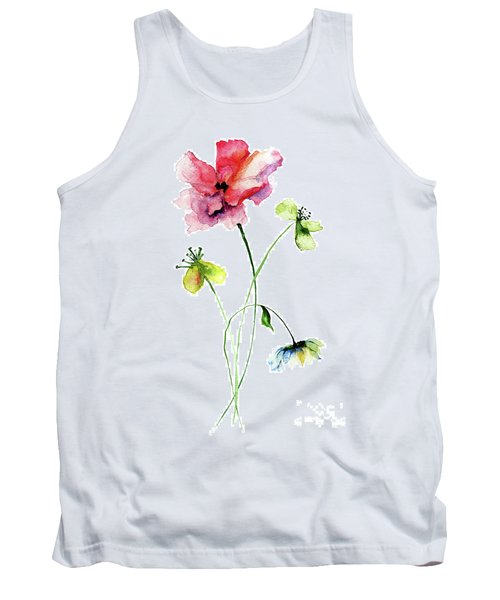 Wild Flowers Watercolor Illustration Tank Top