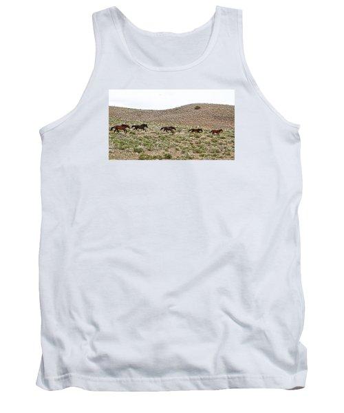 Wild Mustang Herd Running Tank Top