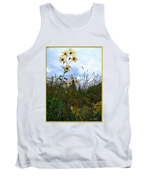 Tank Top featuring the photograph Wildflowers And Mentor Marsh by Joan  Minchak