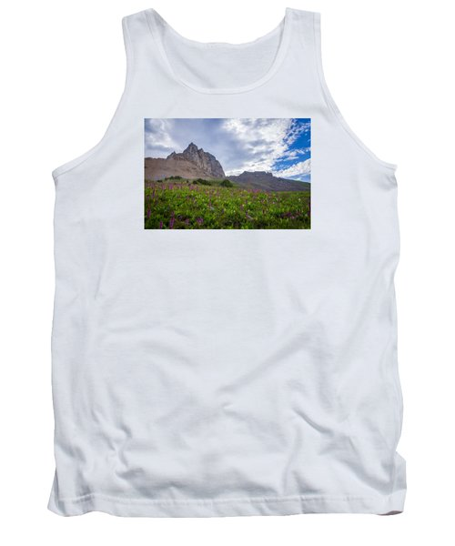 Tank Top featuring the photograph Wildflowers In The Grand Tetons by Serge Skiba