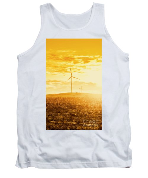 Windfarm Sunset Tank Top