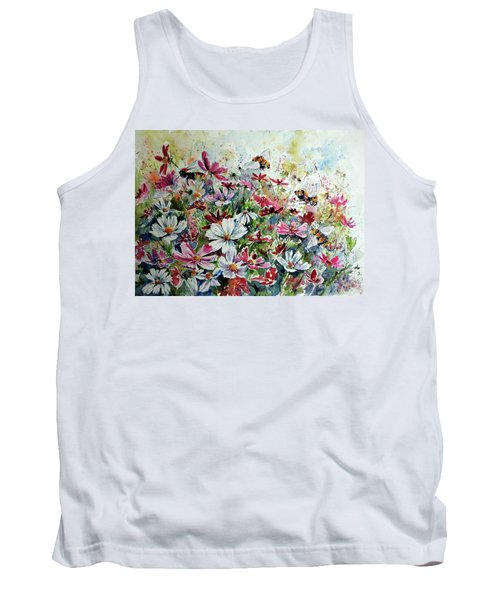 Windflowers With Bees Tank Top