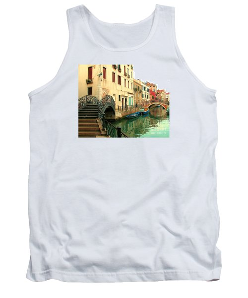 Winding Through The Watery Streets Of Venice Tank Top by Barbie Corbett-Newmin