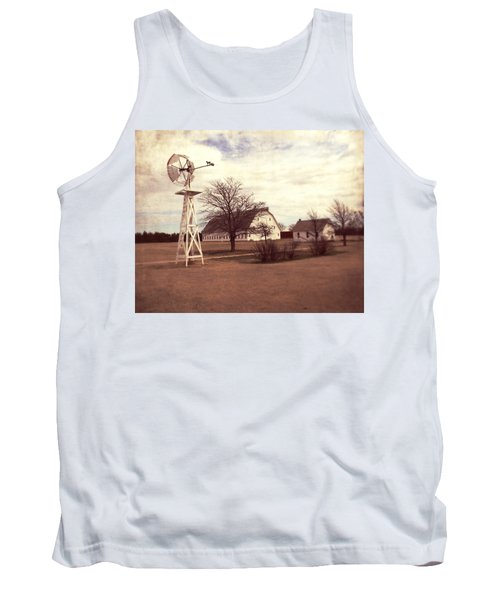 Tank Top featuring the photograph Windmill At Cooper Barn by Julie Hamilton