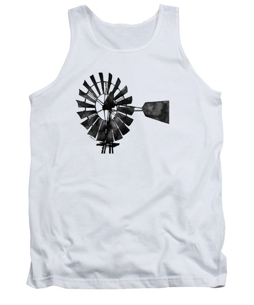 Windmill In Black And White Tank Top