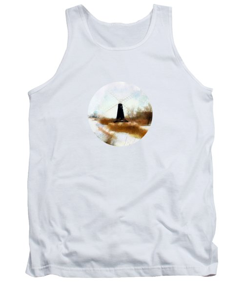 Windmill In The Snow Tank Top