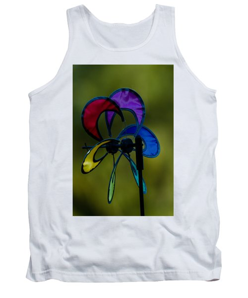 Tank Top featuring the photograph Windmill  by Ramabhadran Thirupattur