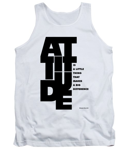 Winston Churchill Inspirational Typographic Quotes Poster Tank Top by Lab No 4 - The Quotography Department