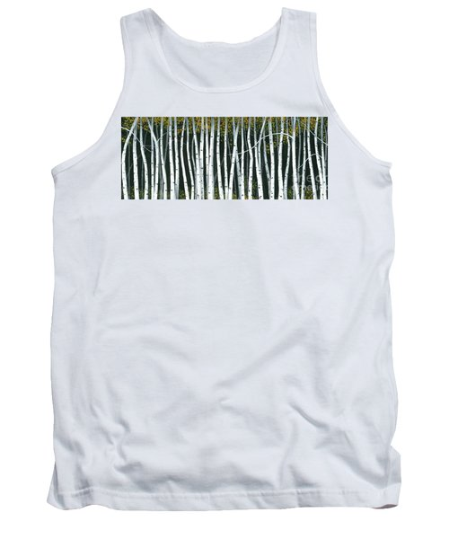 Tank Top featuring the painting Winter Aspen 3 by Michael Swanson