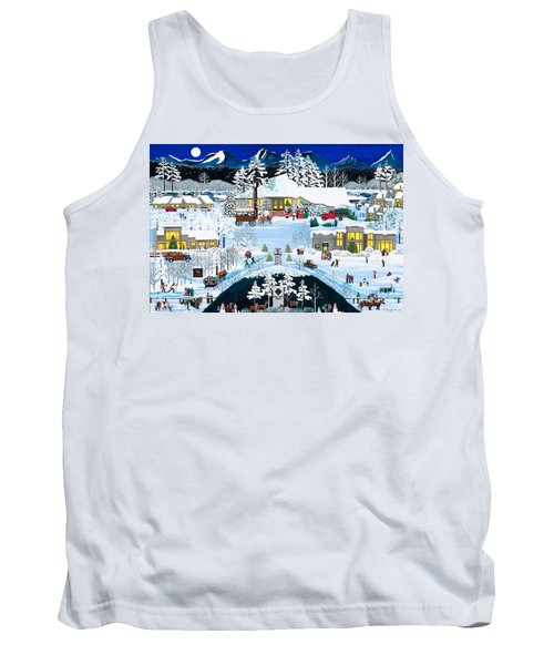 Winter At Black Butte Tank Top