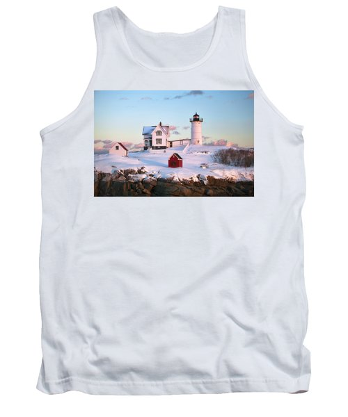 Winter At Nubble Tank Top