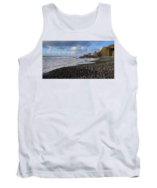 Winter At Sandymouth Tank Top by Richard Brookes