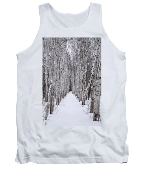 Winter Birch Path Tank Top