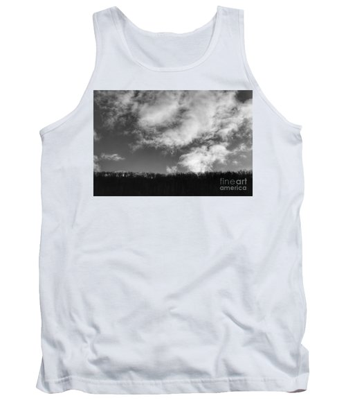Winter Clouds Over The Delaware River Tank Top