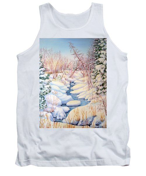 Winter Creek 1  Tank Top by Inese Poga
