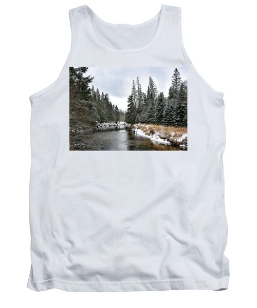 Winter Creek In Adirondack Park - Upstate New York Tank Top by Brendan Reals