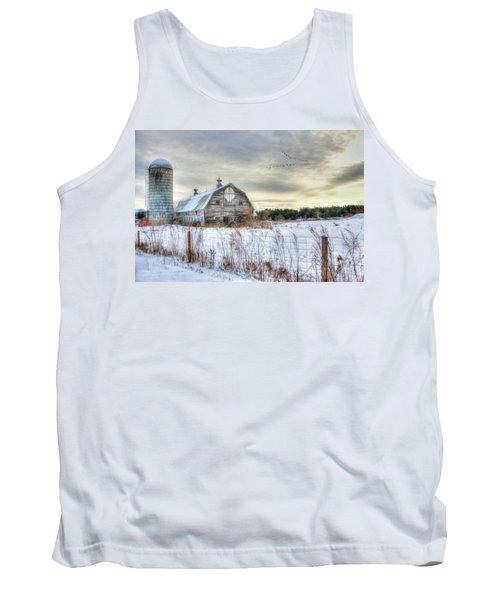 Tank Top featuring the digital art Winter Days In Vermont by Sharon Batdorf
