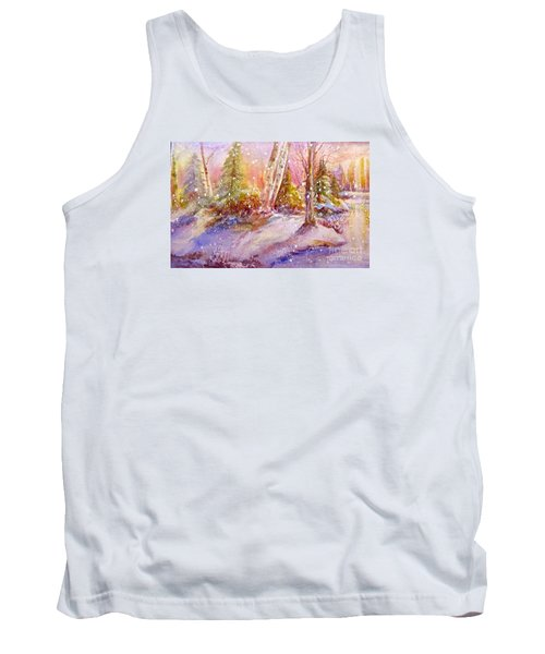 Tank Top featuring the painting Winter Forest  by Patricia Schneider Mitchell