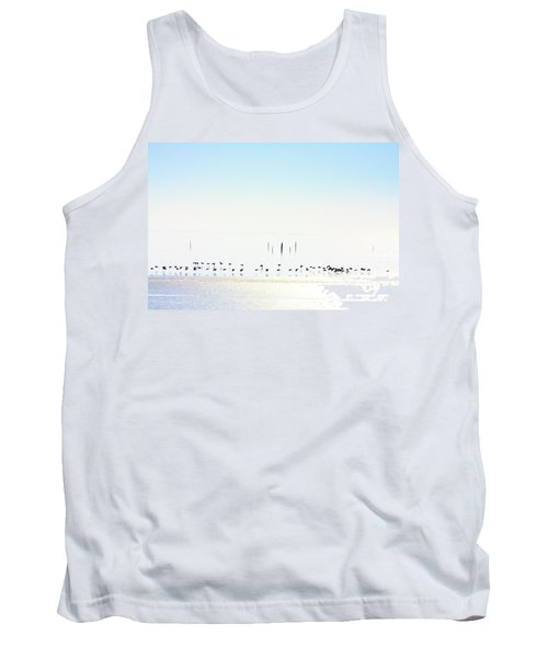 Winter Geese Frozen Ice Tank Top