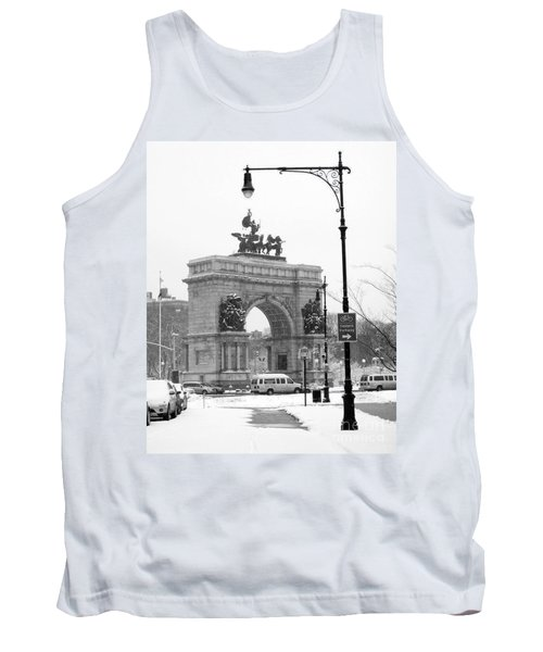 Winter Grand Army Plaza Tank Top by Mark Gilman