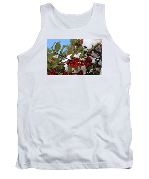 Winter Holly Tank Top