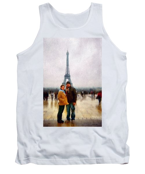 Winter Honeymoon In Paris Tank Top