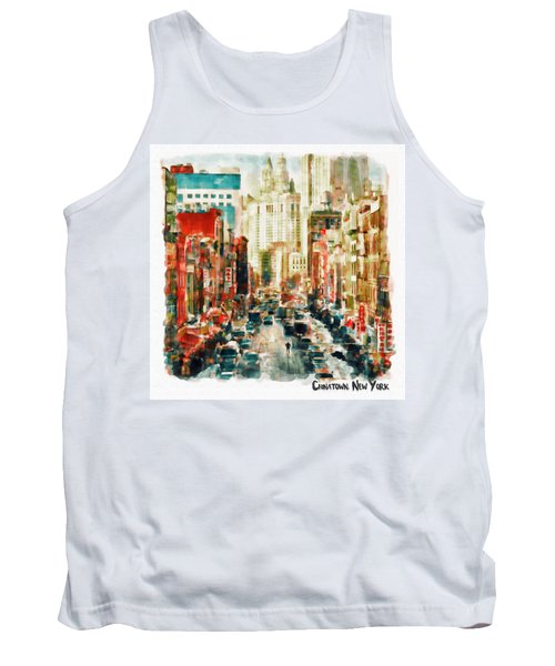 Winter In Chinatown - New York Tank Top