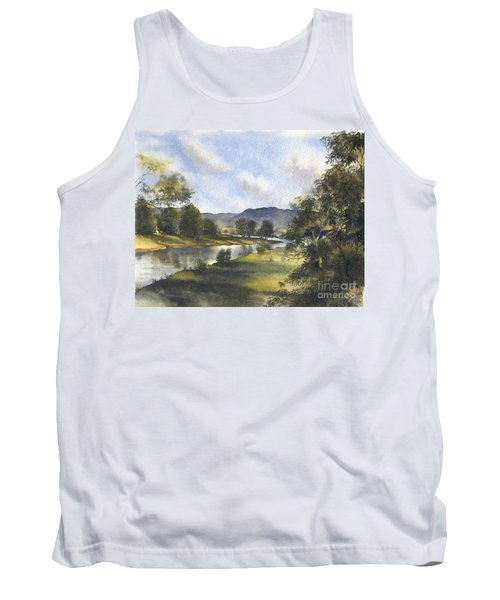 Tank Top featuring the painting Winter In The Bellinger Valley by Sandra Phryce-Jones