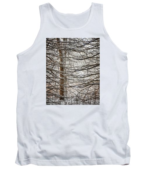 Tank Top featuring the photograph Winter In The Woods by Nikki McInnes