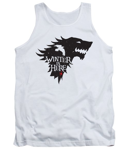 Winter Is Here Tank Top by Edward Draganski