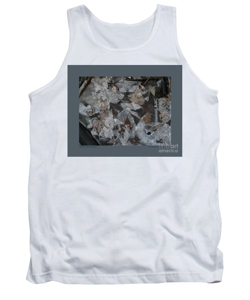 Tank Top featuring the photograph Winter Leaf Abstract-i by Patricia Overmoyer