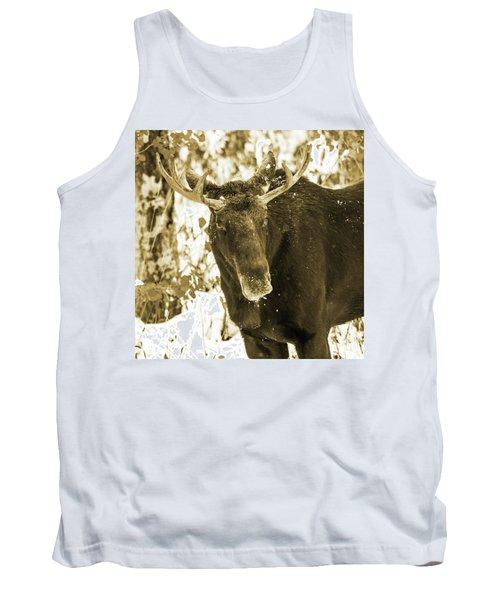 Winter Moose - Sepia Tank Top