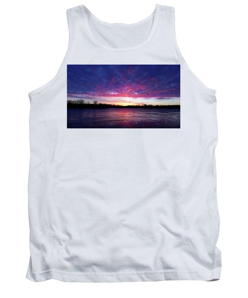 Winter Sunrise On The Wisconsin River Tank Top by Brook Burling
