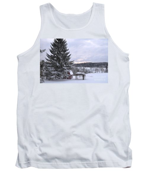 Tank Top featuring the photograph Winter Sunset - 1 by John Black