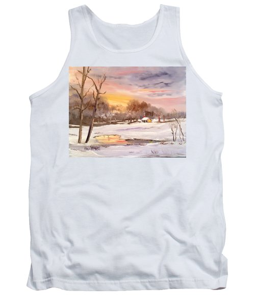 Winter Sunset Tank Top