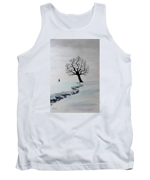 Tank Top featuring the painting Winter Trek by Jack G Brauer