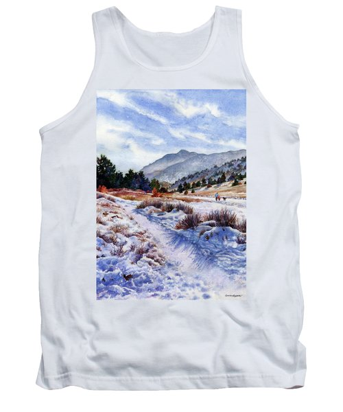 Tank Top featuring the painting Winter Wonderland by Anne Gifford