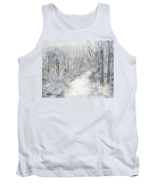 Tank Top featuring the painting Winter's Day by Robin Maria Pedrero