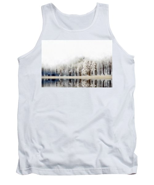 Tank Top featuring the photograph Winterscape  by Andrea Kollo