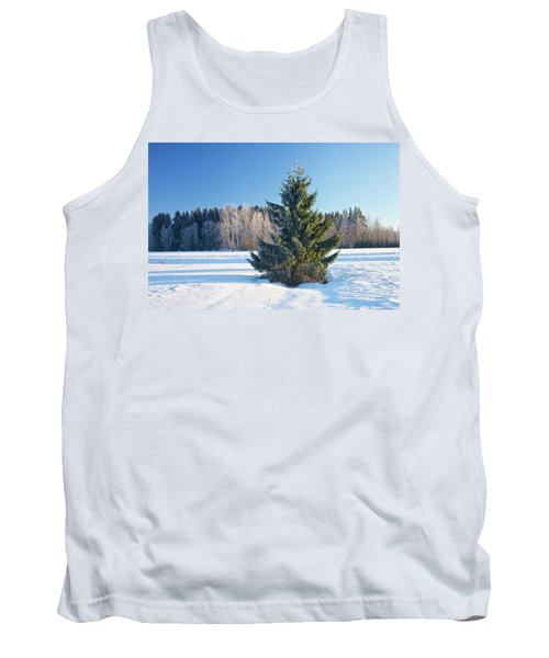 Wintry Fir Tree Tank Top