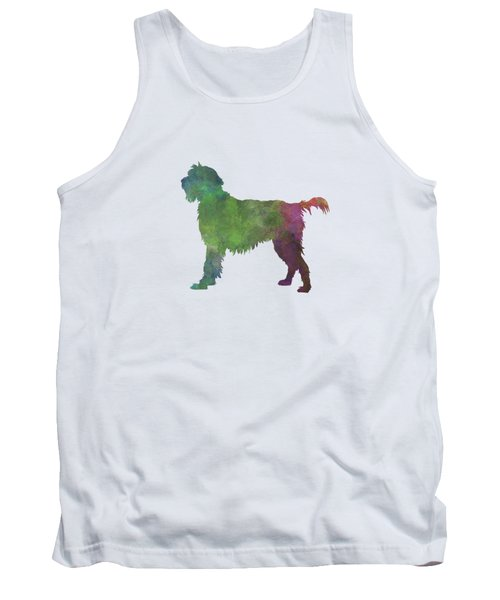 Wirehaired Pointing Griffon Korthals In Watercolor Tank Top by Pablo Romero