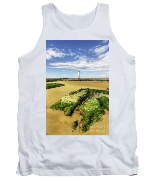 Wirral Lighthouse Tank Top by Ian Mitchell