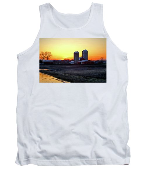 Tank Top featuring the photograph Wisconsin At Sunset by Jean Haynes