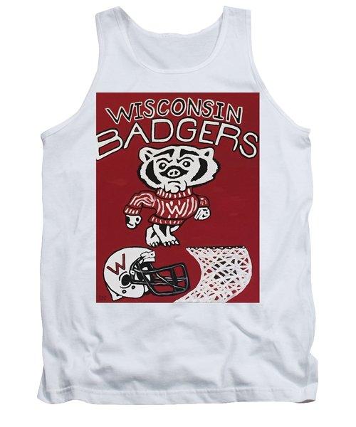 Wisconsin Badgers Tank Top by Jonathon Hansen