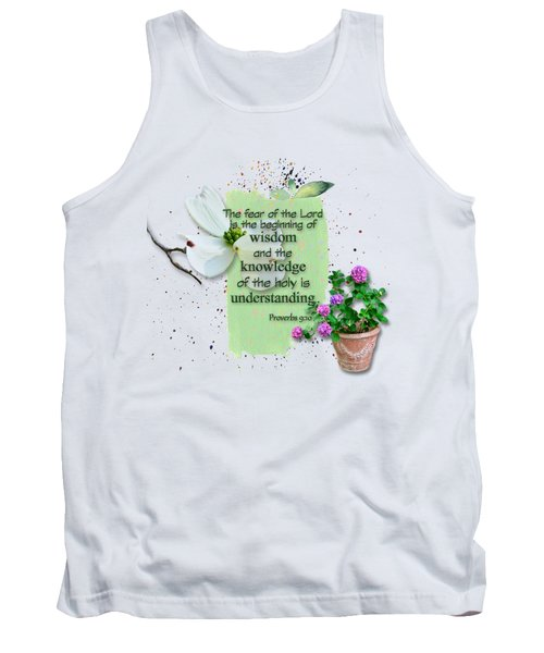 Wisdom And Knowledge Tank Top by Larry Bishop